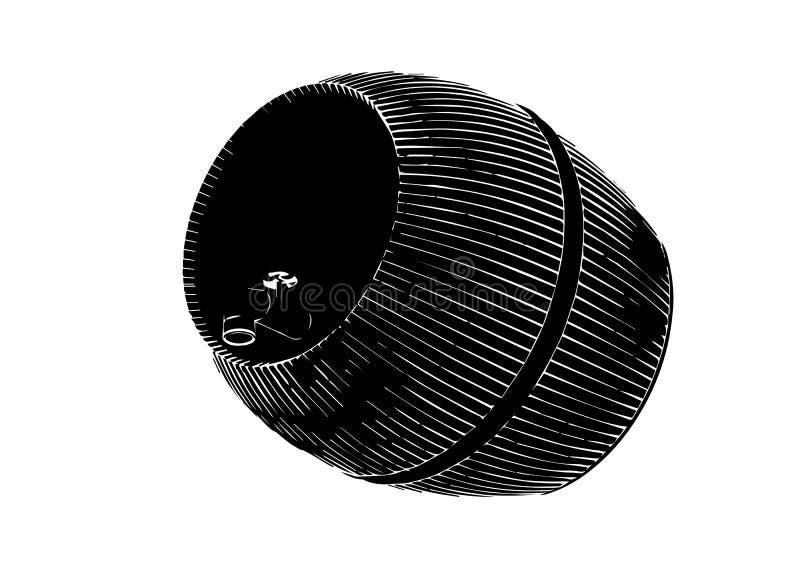 Black barrel on white background. Vector image vector illustration
