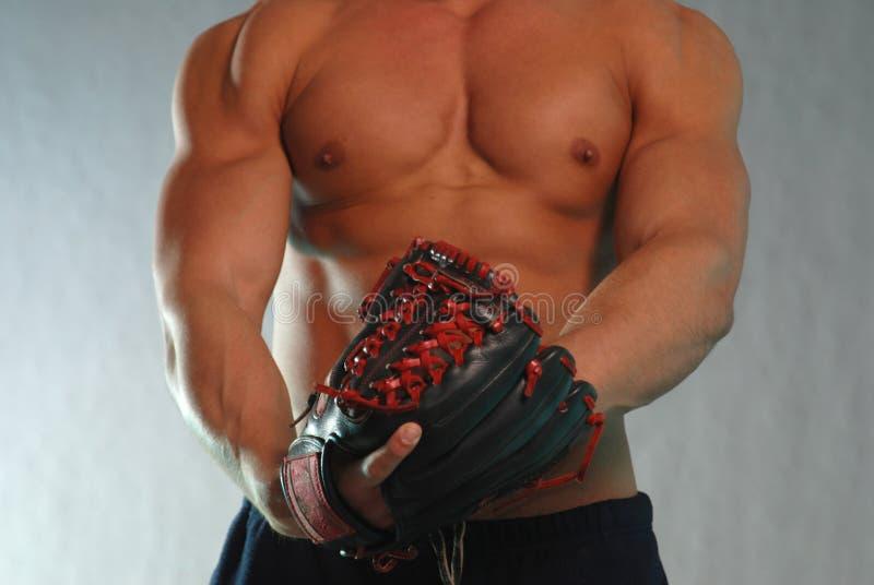 Download Black base ball mit stock photo. Image of recreation, jock - 4009882