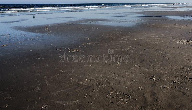 Black beach royalty free stock photos