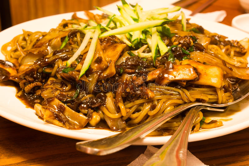 Download Black Bean Spaghetti Stock Photography - Image: 33666832