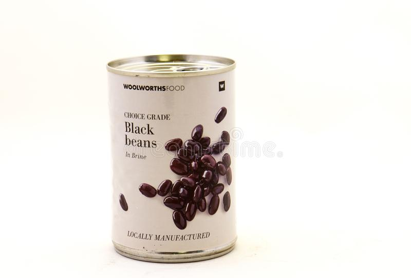 Black beans from Woolworths Food in South Africa stock photo