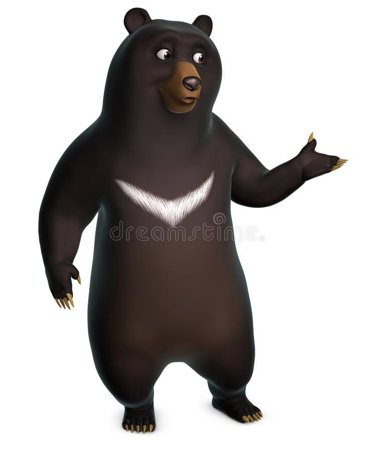 Download Black bear stock illustration. Image of mammal, looking - 26839442