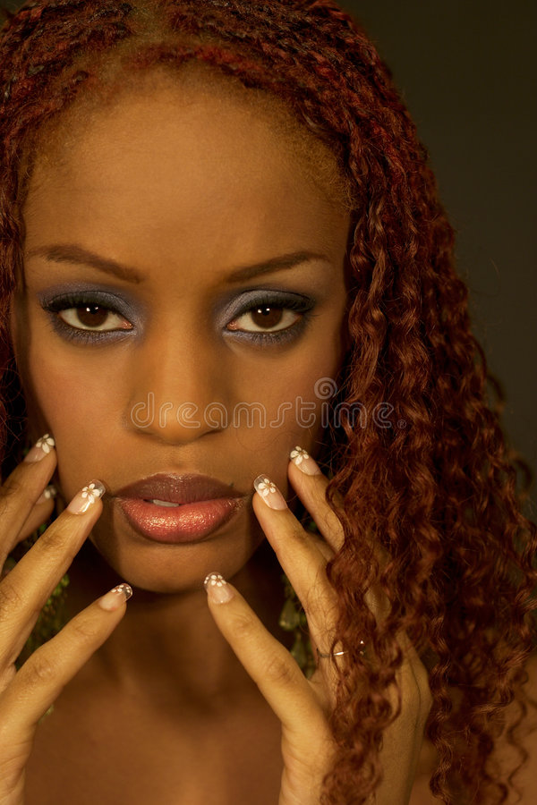 Black and Beautiful Model stock image