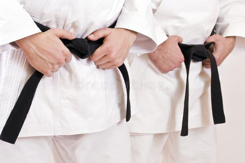 Black belt stock image