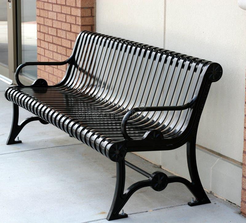 Black Bench stock photography