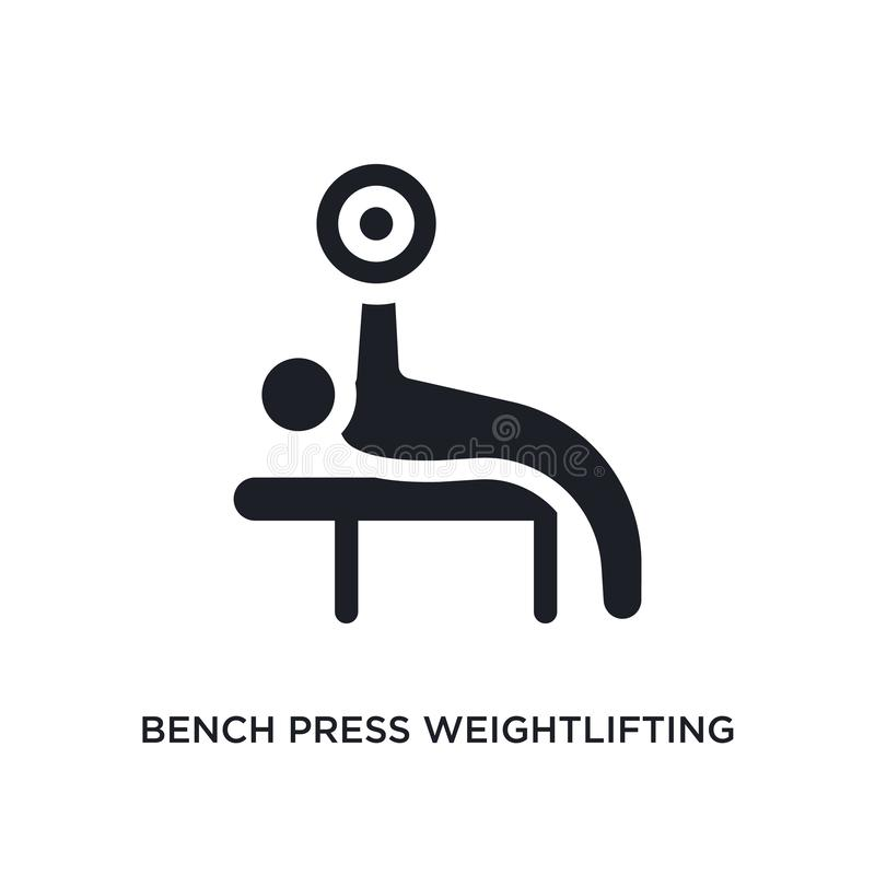 Free Black Bench Press Weightlifting Isolated Vector Icon. Simple Element Illustration From Gym And Fitness Concept Vector Icons. Bench Stock Image - 143596891