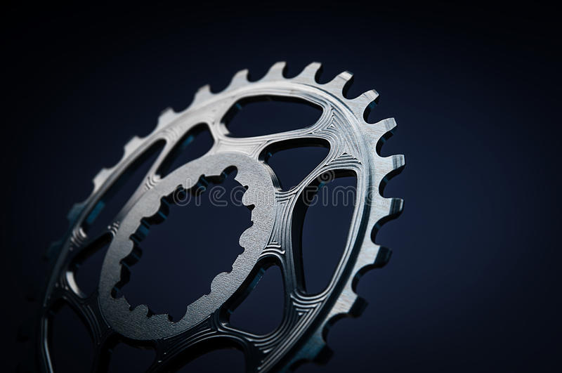 Black Bicycle chainring royalty free stock images