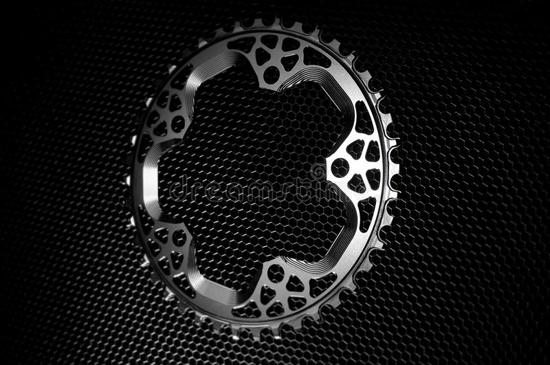Black Bicycle chainring royalty free stock photos