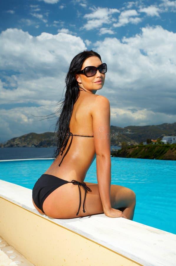 Free Black Bikini Girl Stock Photos - 2495943