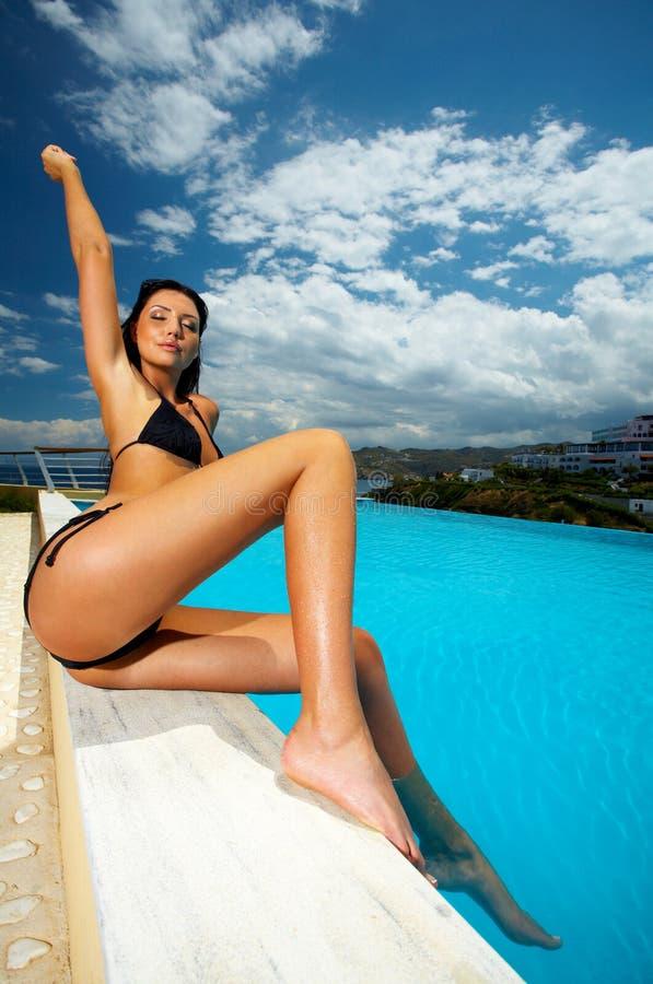 Free Black Bikini Girl Royalty Free Stock Images - 2495949