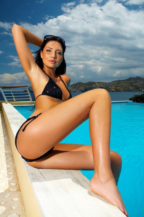 Free Black Bikini Girl Stock Photo - 2554680
