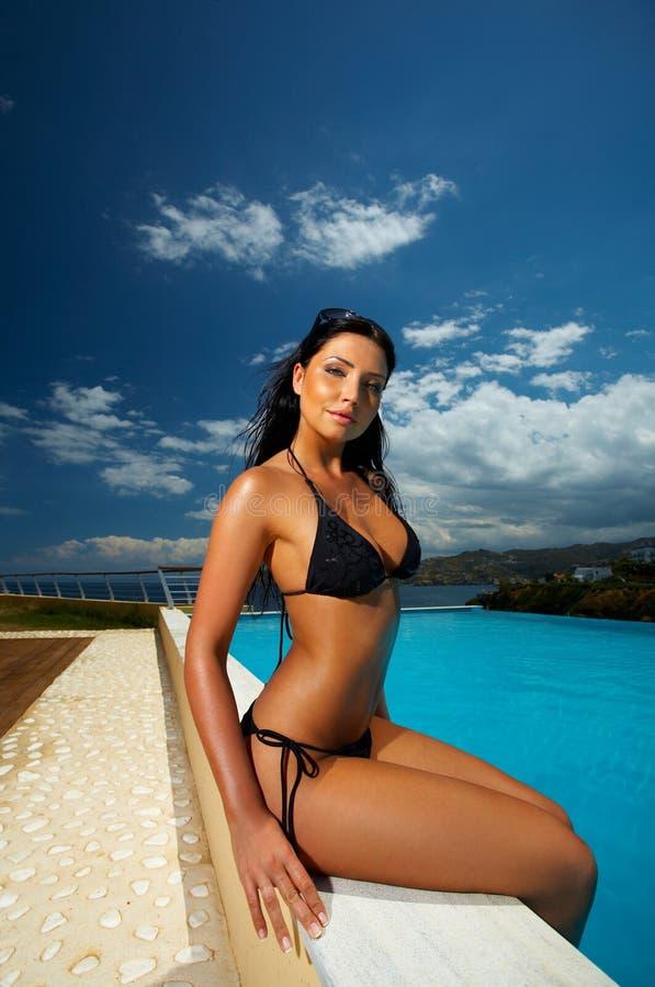 Free Black Bikini Girl Stock Image - 3032201