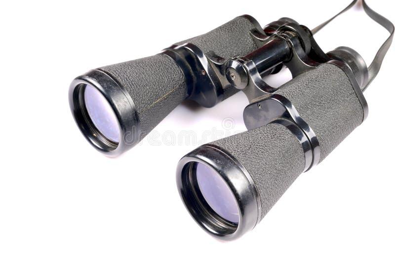 Black binoculars royalty free stock photo