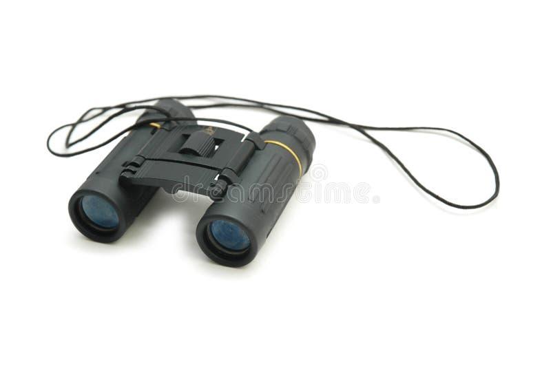 Black binoculars isolated stock images