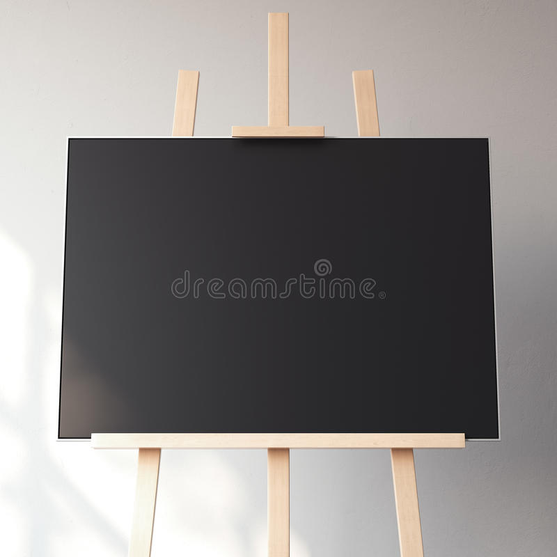 Black blank canvas. 3d rendering stock photo