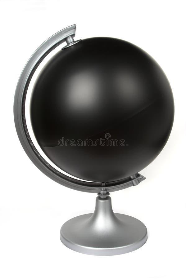 Black blank globe royalty free stock photo