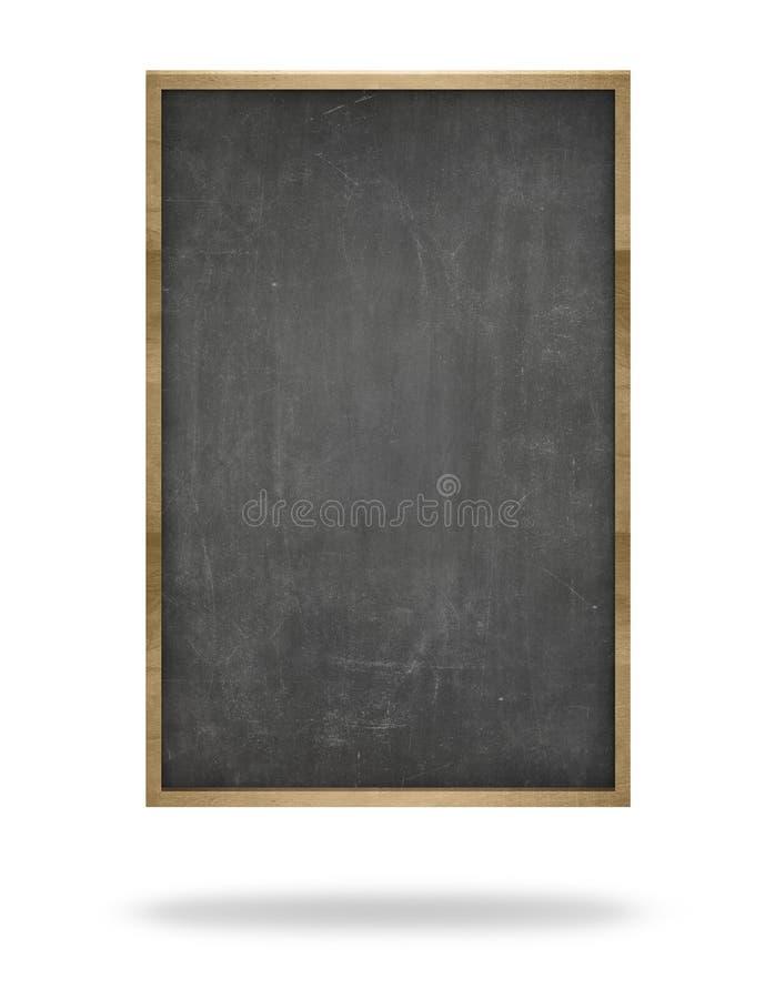 Black Blank Vertical Blackboard With Wooden Frame Stock Photo ...