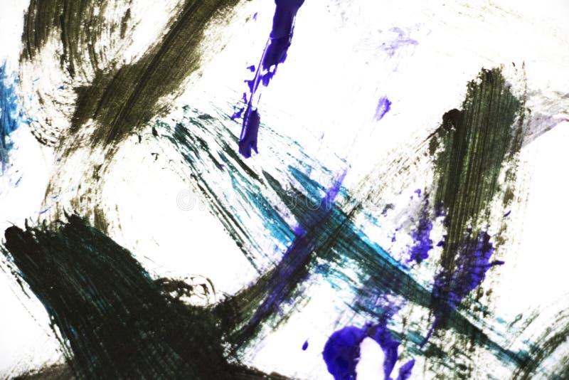 Black and Blue Bold Brush Strokes.  stock photo