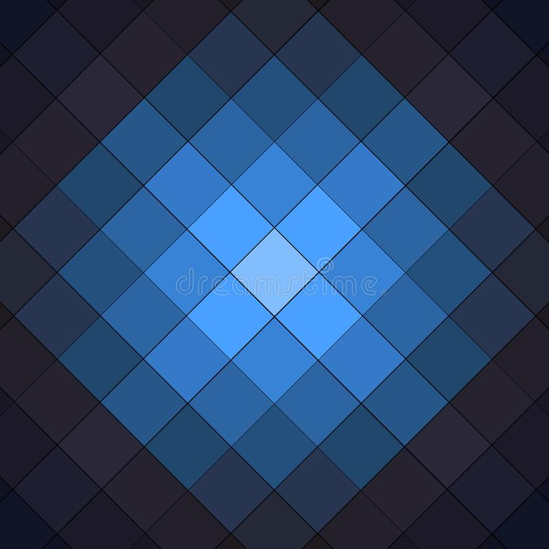 Black and blue checkered background pattern stock illustration