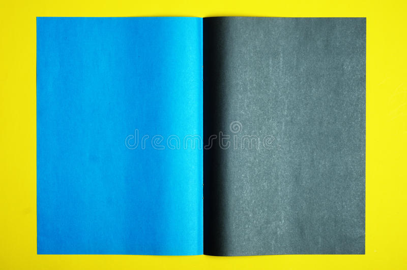 Black and blue page royalty free stock photos