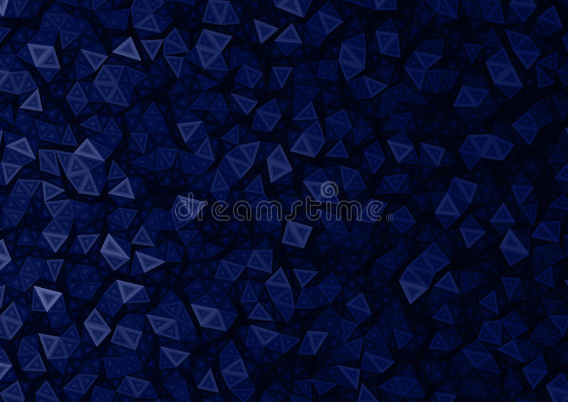 Black & Blue Polygon Particles Abstract Background. Blue & Black Polygon Particles Abstract Background Texture royalty free illustration