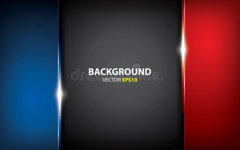 Black, blue and red background overlap layers with light effect. minimal concept. Black, blue and red background overlap layers. minimal concept. dark background stock illustration