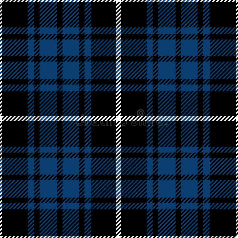 Black And Blue Tartan Plaid Textile Pattern stock images