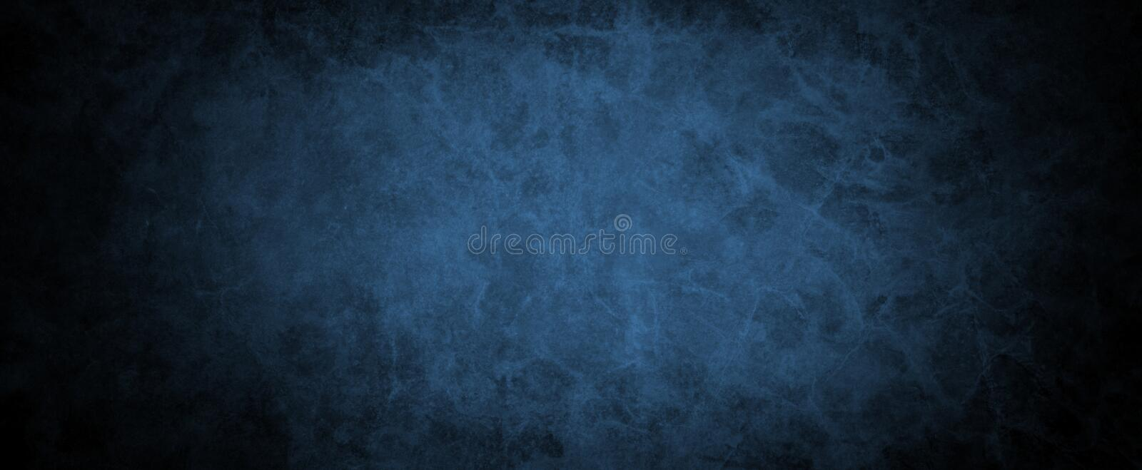 Black and blue vintage background with distressed grunge texture and soft color design with dark black border stock photos