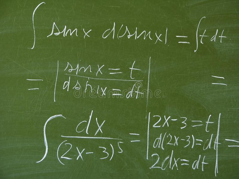 Download Black board stock photo. Image of mathematics, determination - 14429584