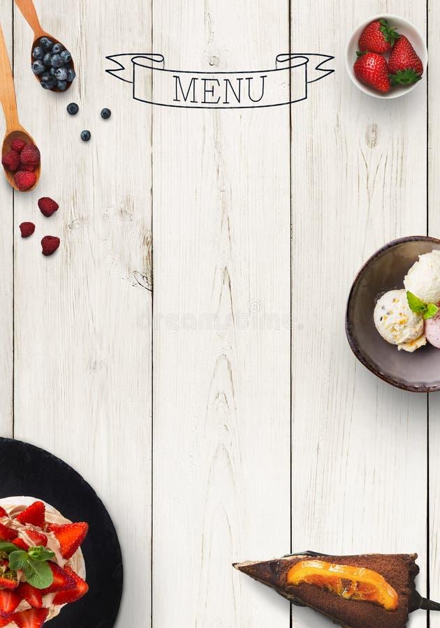 Black board as mockup for restaurant menu stock photography