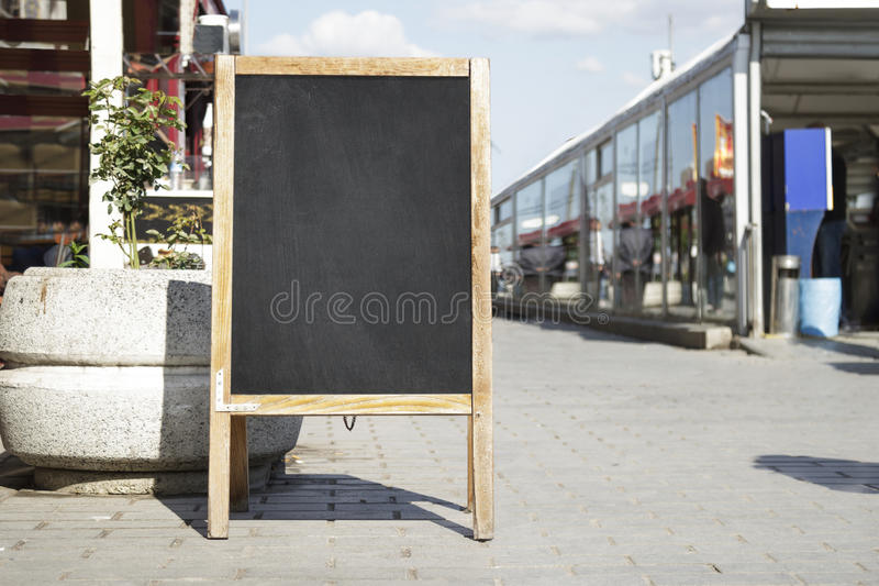 Black board cafe menu board. Empty black board cafe menu board stock photos