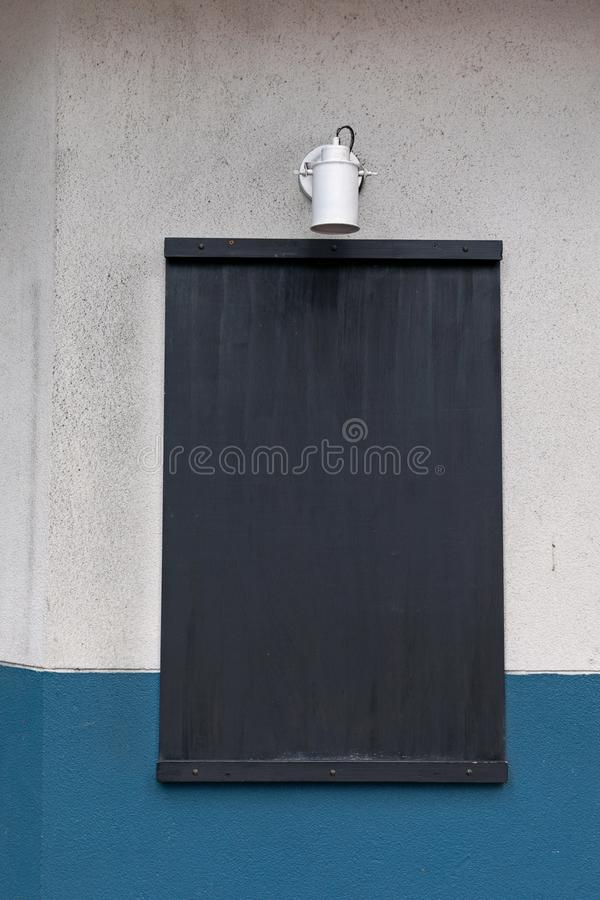 Black Board. Empty Black Board at Wall Info royalty free stock image