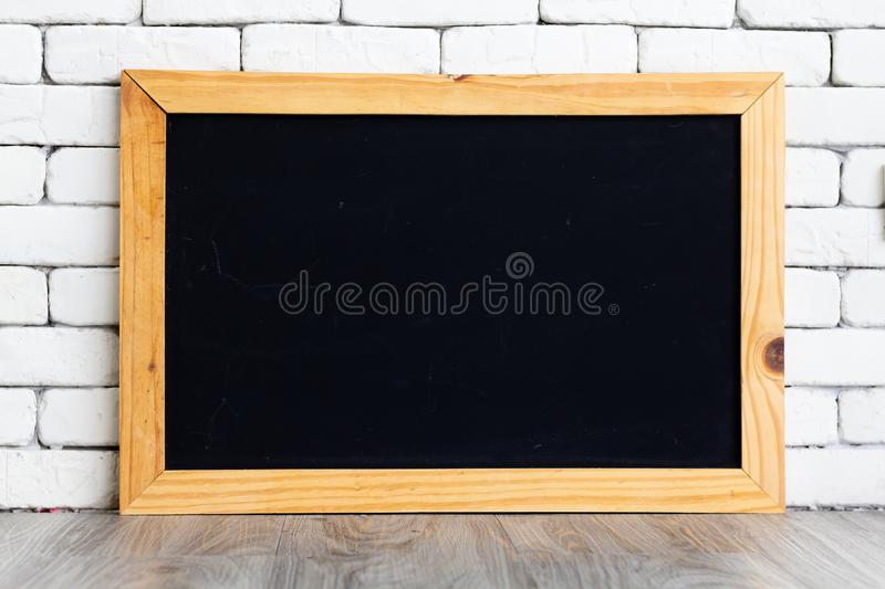 The black board has space for writing various guidelines ideas for concept and graphic resource.  stock photography
