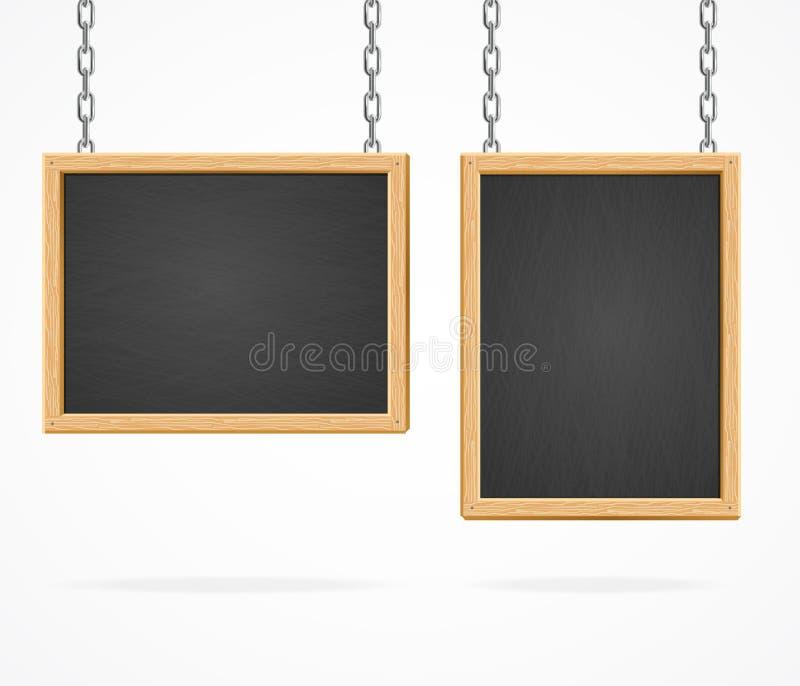 Black Board Sign. Vector stock illustration
