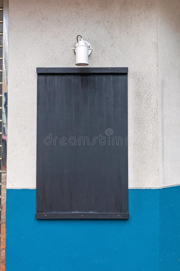 Black Board Wall. Empty Black Board at Wall Info royalty free stock images