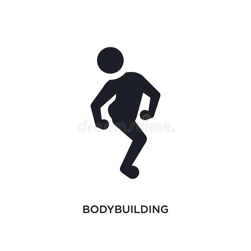 black bodybuilding isolated vector icon. simple element illustration from sport concept vector icons. bodybuilding editable logo vector illustration