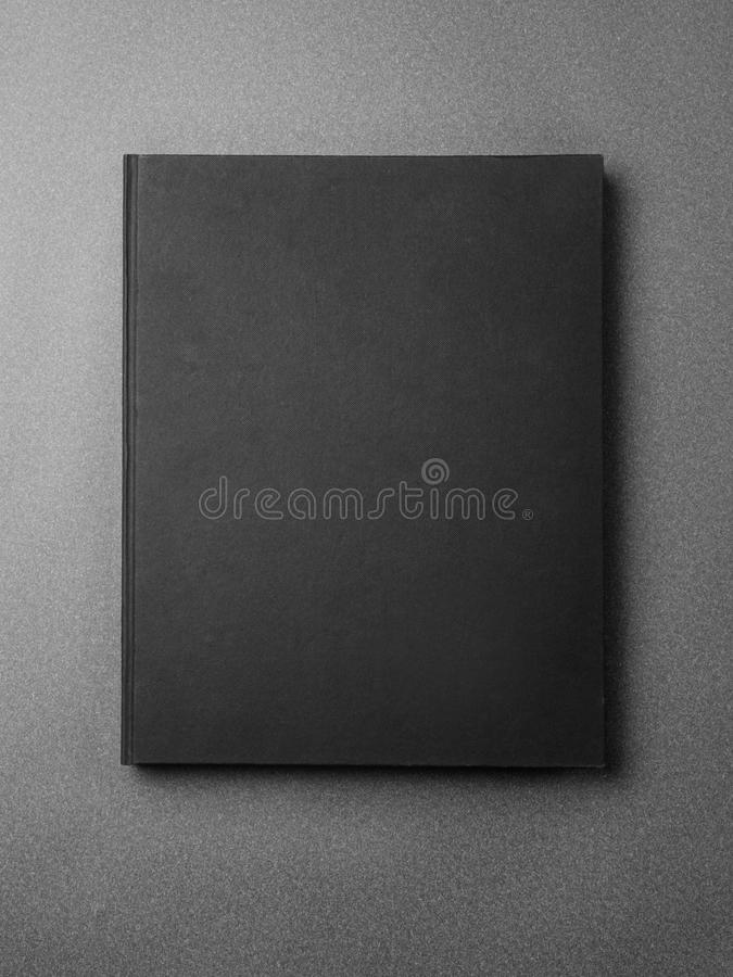Black book cover on the gray background royalty free stock images