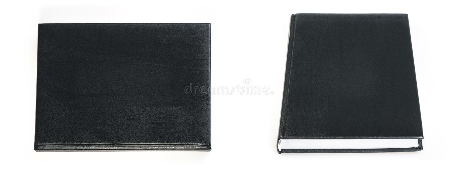 Black book cover isolated on white background royalty free stock photos