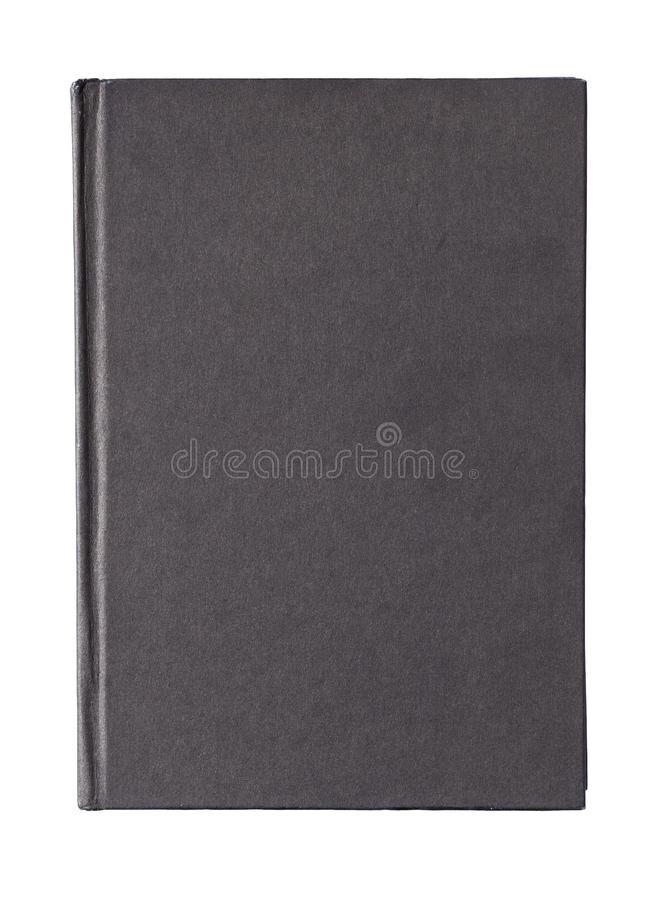 Black book cover. Isolated on white background royalty free stock photos