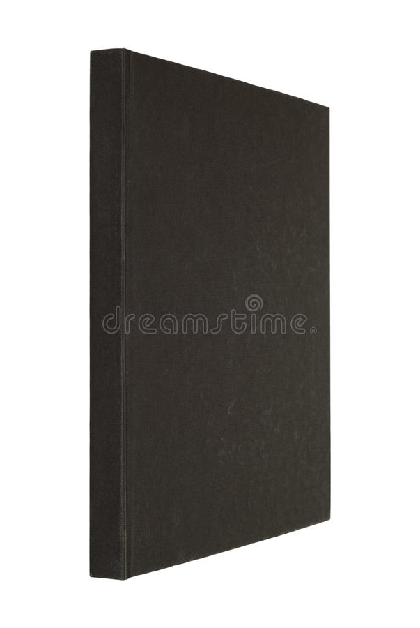 Black book isolated on white royalty free stock images