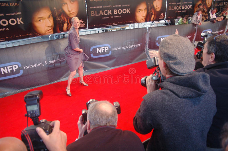 Black Book. MAY 9, 2007 - BERLIN: press photographers and celebrities at the red carpet during the German premiere of the movie Black Book, Zoo Palast, Berlin stock image