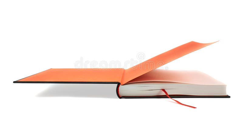 Black book with a red bookmark royalty free stock photos