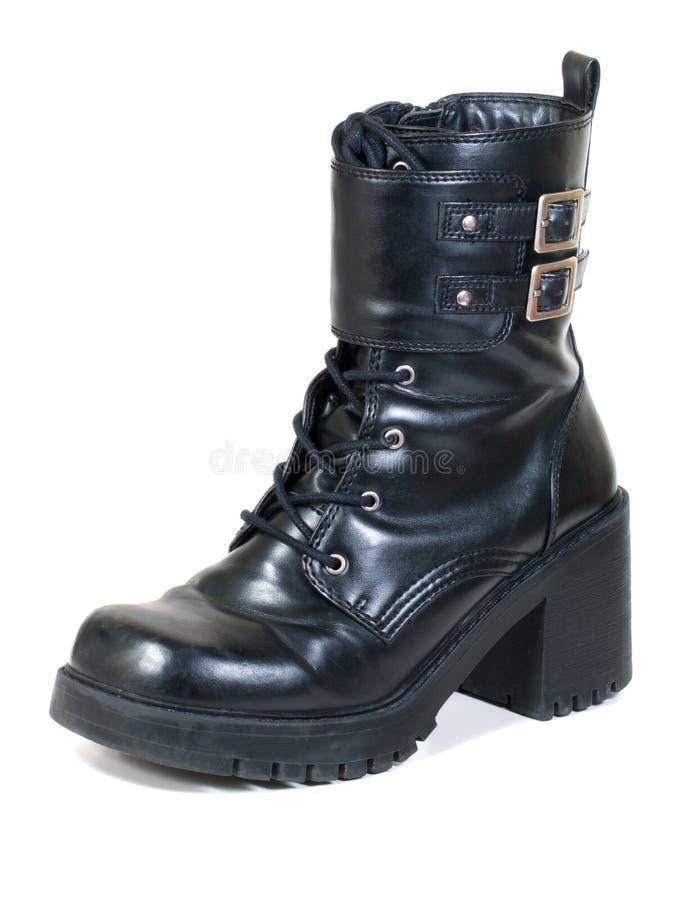 Download Black Boot stock image. Image of tread, black, buckle - 14759797