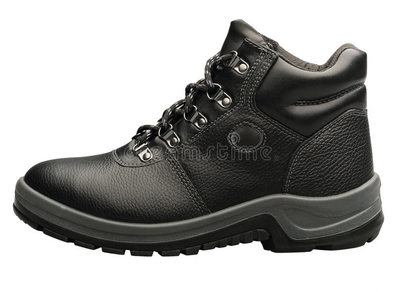 Download Hiking Black Boot Isolated On White Stock Image - Image: 19992581