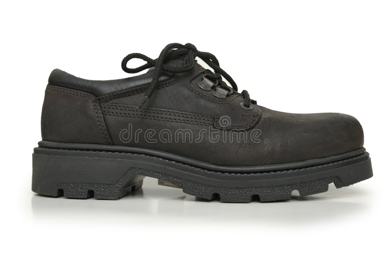 Black Boot Isolated Royalty Free Stock Image