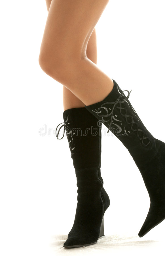 Black boots #2 stock image
