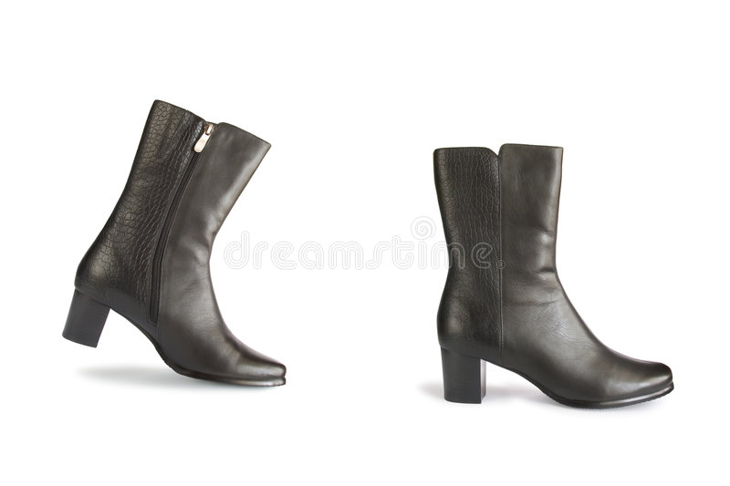 Download Black Boots - One Step Royalty Free Stock Images - Image: 1559999