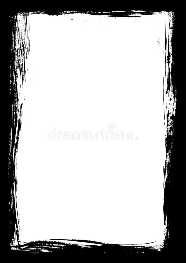 Black Border Of Paint Strokes Stock Vector - Illustration