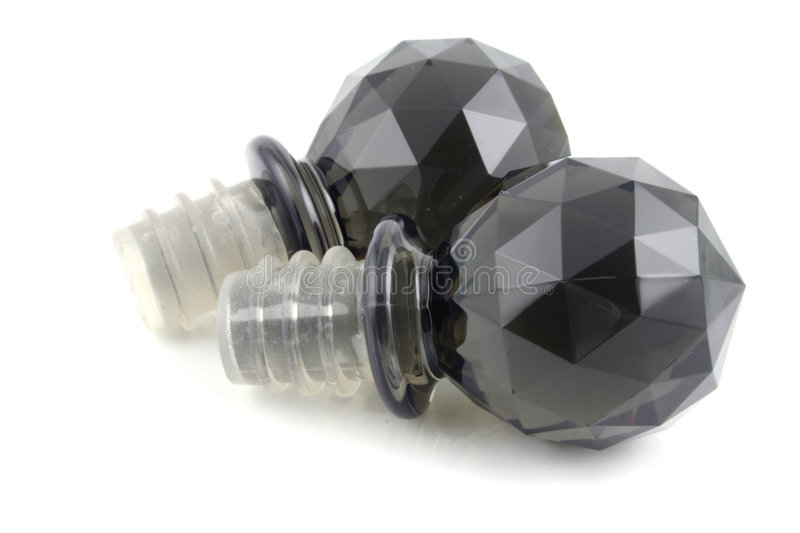 Black Bottle Stopper. On a white background royalty free stock image