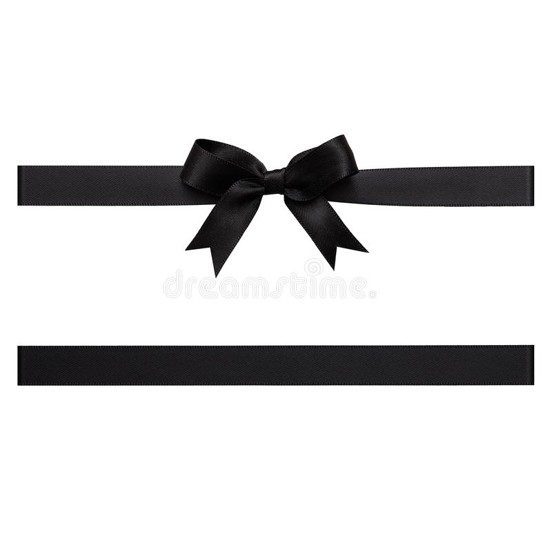 Free Black Bow Made Of Satin Ribbon Royalty Free Stock Images - 104361979